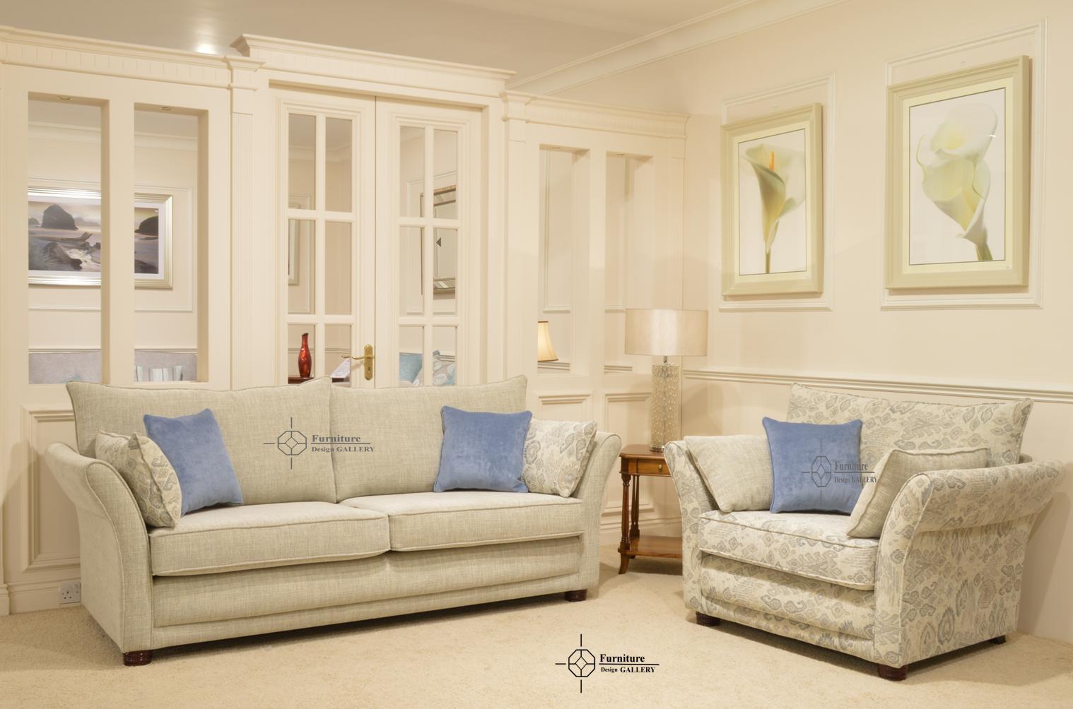 Furniture Design Gallery Manhattan 4Str + Cuddlier Blue Sc